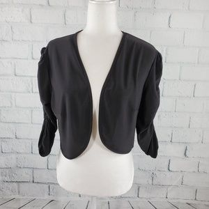 Fashion Bug - black mid length open front cardigan